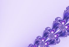 Φανταχτερό διαγώνιο fractal κορδελλών στην ευχάριστη πορφύρα ακτινοβολεί, μοιάζοντας με τα λουλούδια Διάστημα κειμένων Για τα σχέ Στοκ εικόνα με δικαίωμα ελεύθερης χρήσης