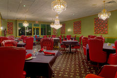 φανταχτερό εστιατόριο ξενοδοχείων Στοκ Φωτογραφία
