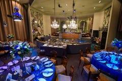 Φανταχτερό εσωτερικό εστιατόριο Στοκ Εικόνες