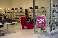 Φανταχτερό κατάστημα παπουτσιών Στοκ Φωτογραφία
