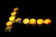 Φανταχτερό κερί αρώματος Στοκ Εικόνες