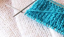 Φανταχτερό νήμα για το πλέξιμο, χόμπι Στοκ Εικόνες