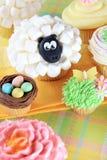 Φανταχτερό Πάσχα cupcakes Στοκ φωτογραφία με δικαίωμα ελεύθερης χρήσης
