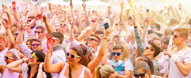 Φανταχτερό φεστιβάλ Holi, Στουτγάρδη στις 10 Μαΐου 2014 Στοκ εικόνα με δικαίωμα ελεύθερης χρήσης