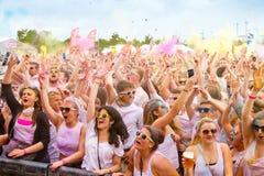 Φανταχτερό φεστιβάλ Holi, Στουτγάρδη στις 10 Μαΐου 2014 Στοκ φωτογραφία με δικαίωμα ελεύθερης χρήσης