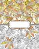 Φανταχτερό floral έμβλημα Στοκ Εικόνες