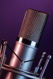 Φανταχτερό mic στο στάδιο Στοκ Εικόνες