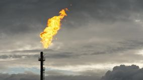 Φανός αερίου στο σούρουπο απόθεμα βίντεο