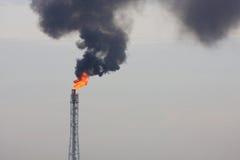 φανός εγκαταστάσεων καθαρισμού αερίου πυρκαγιάς Στοκ φωτογραφίες με δικαίωμα ελεύθερης χρήσης