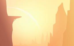 Φαράγγια στο φως του ήλιου Στοκ Εικόνες