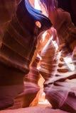 Φαράγγι αντιλοπών στην επιφύλαξη Ναβάχο κοντά στη σελίδα, Αριζόνα, ΗΠΑ Στοκ Φωτογραφία