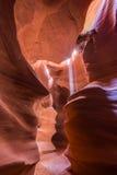 Φαράγγι αντιλοπών στην επιφύλαξη Ναβάχο κοντά στη σελίδα, Αριζόνα, ΗΠΑ Στοκ εικόνα με δικαίωμα ελεύθερης χρήσης