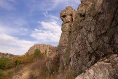 Φαράγγι βράχου στο όμορφο κλίμα ηλιοβασιλέματος στοκ φωτογραφία με δικαίωμα ελεύθερης χρήσης