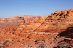 Φαράγγι-πορφυρή αγριότητα απότομων βράχων Paria, Αριζόνα, ΗΠΑ Στοκ Εικόνες