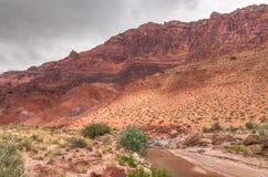 Φαράγγι ποταμών αγριότητα-Paria απότομων βράχων φαράγγι-Vermillion AZ-UT-Paria Στοκ φωτογραφίες με δικαίωμα ελεύθερης χρήσης