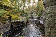 Φαράγγι ποταμών οξυρρύγχων κοντά στο Λ ` Anse Μίτσιγκαν Στοκ φωτογραφίες με δικαίωμα ελεύθερης χρήσης