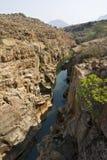 Φαράγγι ποταμών Blye, τυχερές λακκούβες Bourkes, Νότια Αφρική στοκ φωτογραφίες
