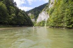 Φαράγγι ποταμών Dunajec Άποψη από βαρκών Στοκ Εικόνες