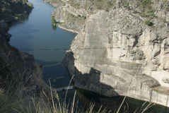 Φαράγγι ποταμών Esla Zamora Ισπανία Στοκ Εικόνες