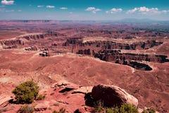 Φαράγγι στο εθνικό πάρκο Canyonlands, Γιούτα στοκ εικόνα με δικαίωμα ελεύθερης χρήσης