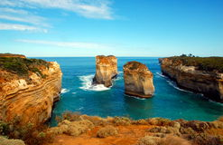 Φαράγγι Ard Lorch, μεγάλος ωκεάνιος δρόμος, Αυστραλία. Στοκ εικόνα με δικαίωμα ελεύθερης χρήσης