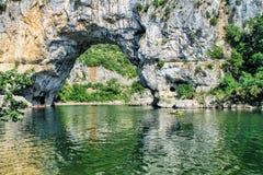 Φαράγγι Ardeche, νότια Γαλλία Στοκ εικόνες με δικαίωμα ελεύθερης χρήσης