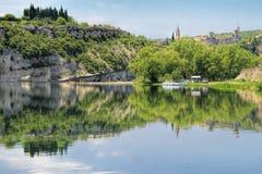 Φαράγγι Ardeche, νότος της Γαλλίας Στοκ φωτογραφία με δικαίωμα ελεύθερης χρήσης
