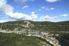 Φαράγγι Ardeche στην περιοχή Ροδανός-Alpes της Γαλλίας Στοκ εικόνες με δικαίωμα ελεύθερης χρήσης