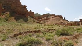 Φαράγγι Charyn σε Kasachstan στοκ φωτογραφίες