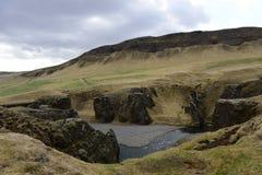 Φαράγγι Fjadrargljufur στην Ισλανδία Στοκ Εικόνα