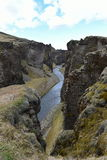 Φαράγγι Fjadrargljufur στην Ισλανδία Στοκ εικόνες με δικαίωμα ελεύθερης χρήσης