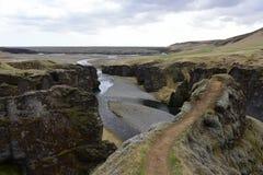 Φαράγγι Fjadrargljufur στην Ισλανδία Στοκ φωτογραφίες με δικαίωμα ελεύθερης χρήσης