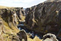 Φαράγγι Fjadrargljufur στην Ισλανδία Στοκ Φωτογραφία