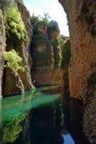 Φαράγγι Guadalevin από το ορυχείο νερού της Ronda στην Ανδαλουσία, Ισπανία στοκ εικόνες με δικαίωμα ελεύθερης χρήσης