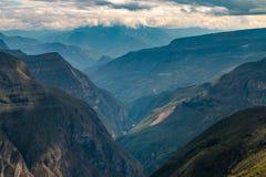 Φαράγγι Sonche κοντά στην πόλη Chachapoyas Περού στοκ φωτογραφία