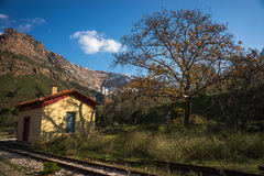 Φαράγγι Vouraikos, Πελοπόννησος, Ελλάδα Στοκ φωτογραφίες με δικαίωμα ελεύθερης χρήσης
