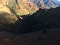 Φαράγγι Waimea Kauai στο νησί, Χαβάη Στοκ φωτογραφία με δικαίωμα ελεύθερης χρήσης