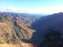 Φαράγγι Waimea Kauai στο νησί, Χαβάη Στοκ Φωτογραφίες