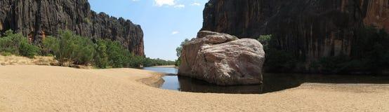Φαράγγι Windjana, gibb ποταμός, kimberley, δυτική Αυστραλία Στοκ Εικόνες