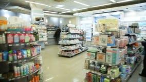 Φαρμακείο, καλλυντικά και εσωτερικό υγειονομικής περίθαλψης απόθεμα βίντεο