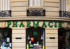 Φαρμακείο στο Παρίσι Στοκ Εικόνες