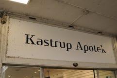 ΦΑΡΜΑΚΕΊΟ KASTRUP APOTEK_DANISH Στοκ Εικόνα