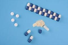 Φαρμακευτικές κάψες ιατρικής Στοκ Εικόνα