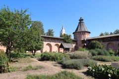 Φαρμακευτικός κήπος στο μοναστήρι του Savior μας και το ST Euthymius στην πόλη του Σούζνταλ, Ρωσία στοκ εικόνες με δικαίωμα ελεύθερης χρήσης