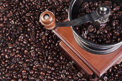 φασολιών καφέ μύλος που ψήνεται φρέσκος Στοκ εικόνες με δικαίωμα ελεύθερης χρήσης