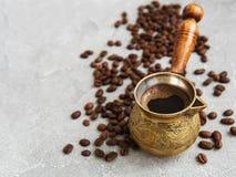 Φασόλια καφέ και Τούρκος στοκ εικόνες με δικαίωμα ελεύθερης χρήσης