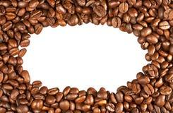 Φασόλια καφέ με μορφή ενός πλαισίου που απομονώνεται Στοκ εικόνα με δικαίωμα ελεύθερης χρήσης