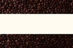 Φασόλια καφέ με το δημιουργικό στοιχείο ορθογωνίων για τις γραφικές χρήσεις Στοκ φωτογραφία με δικαίωμα ελεύθερης χρήσης