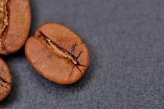 Φασόλια καφέ στο μαύρο υπόβαθρο σύμφωνο με στοκ εικόνες με δικαίωμα ελεύθερης χρήσης