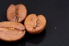 Φασόλια καφέ στο μαύρο υπόβαθρο σύμφωνο με στοκ φωτογραφία με δικαίωμα ελεύθερης χρήσης